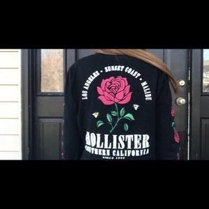 black hollister long sleeve